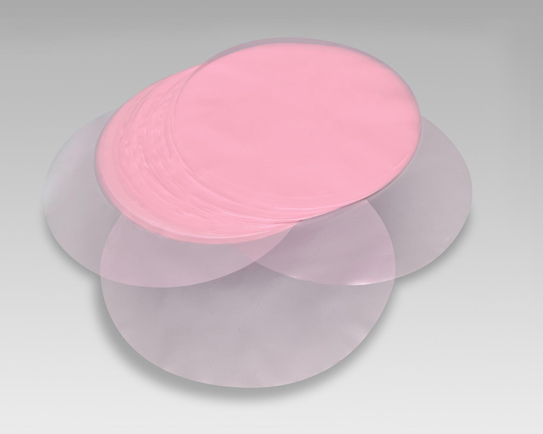Dischi per hamburger in polietilene rosa