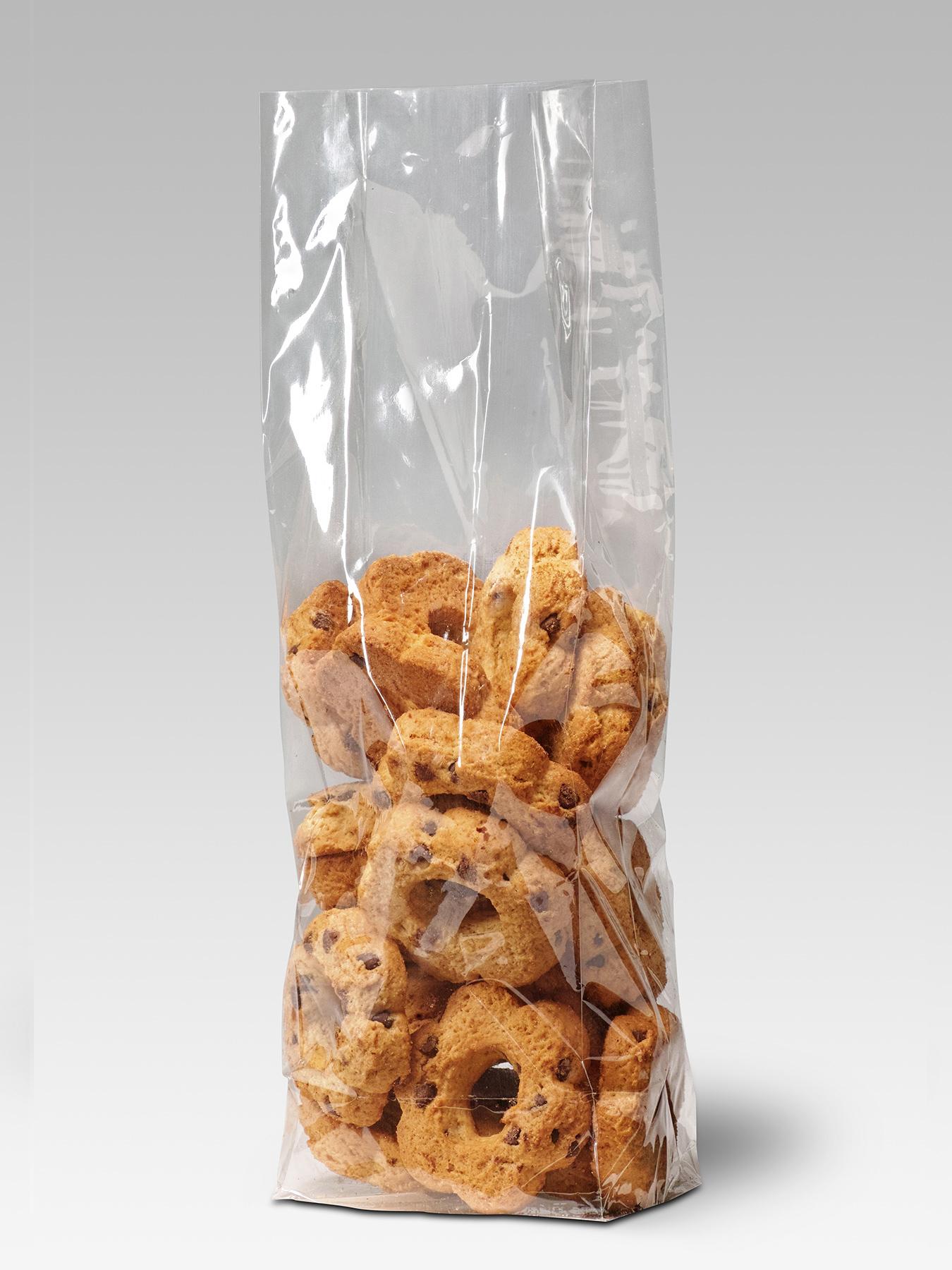 Buste soffiettate termosaldate con fondo risvoltato in Cellophane NatureFlex™ biodegradabile e compostabile