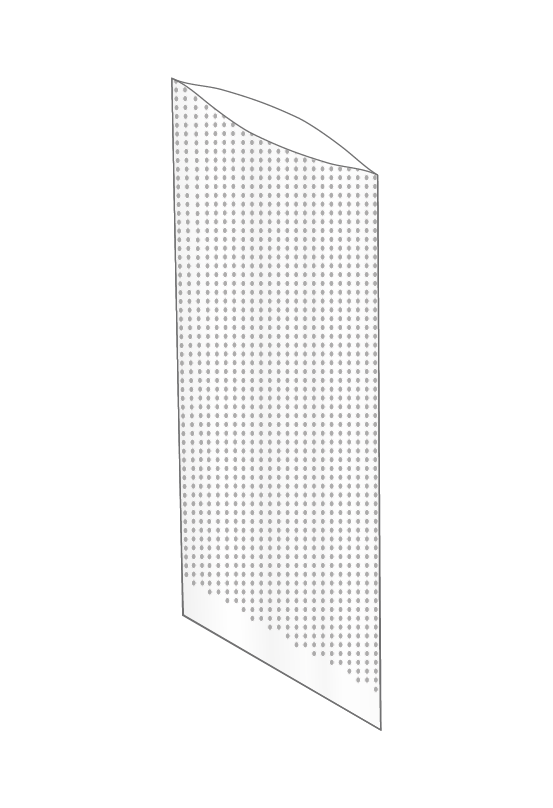 Le buste piatte in polipropilene COESTRUSO microforato neutro