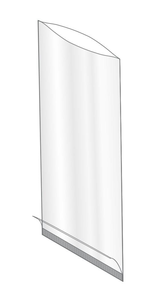 Buste piatte termosaldate con fondo risvoltato in polipropilene